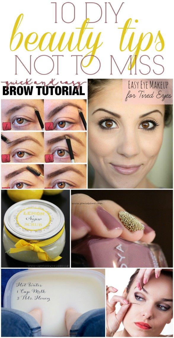 DIY beauty tips not to miss