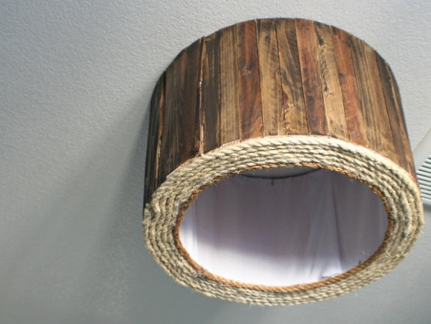 DIY Wood Shim Drum Shade