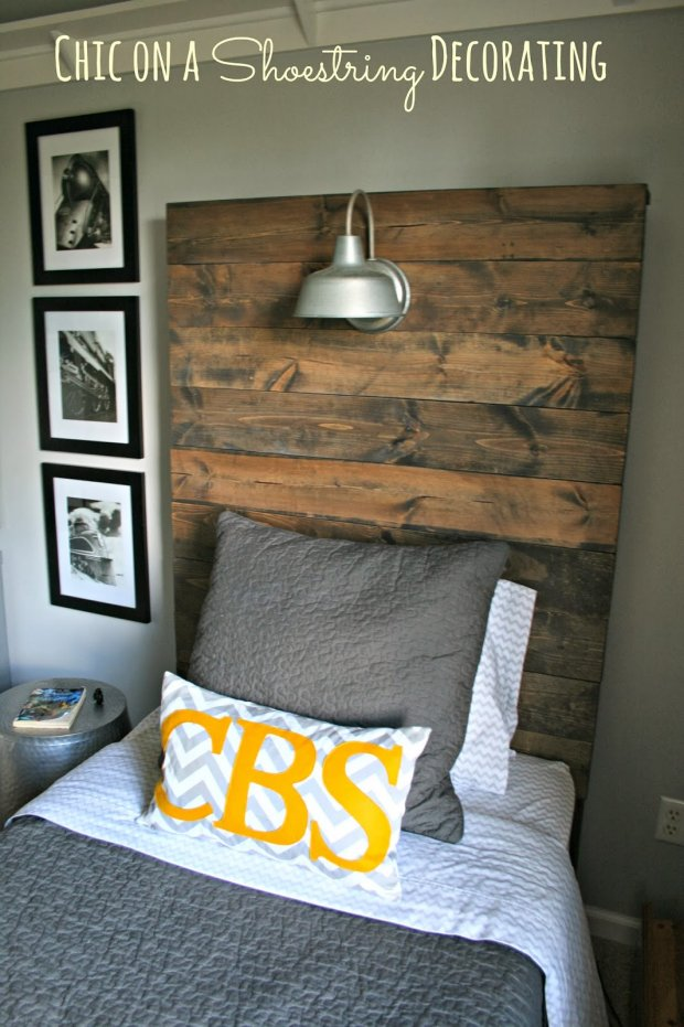 How to Build a Rustic Wooden Headboard