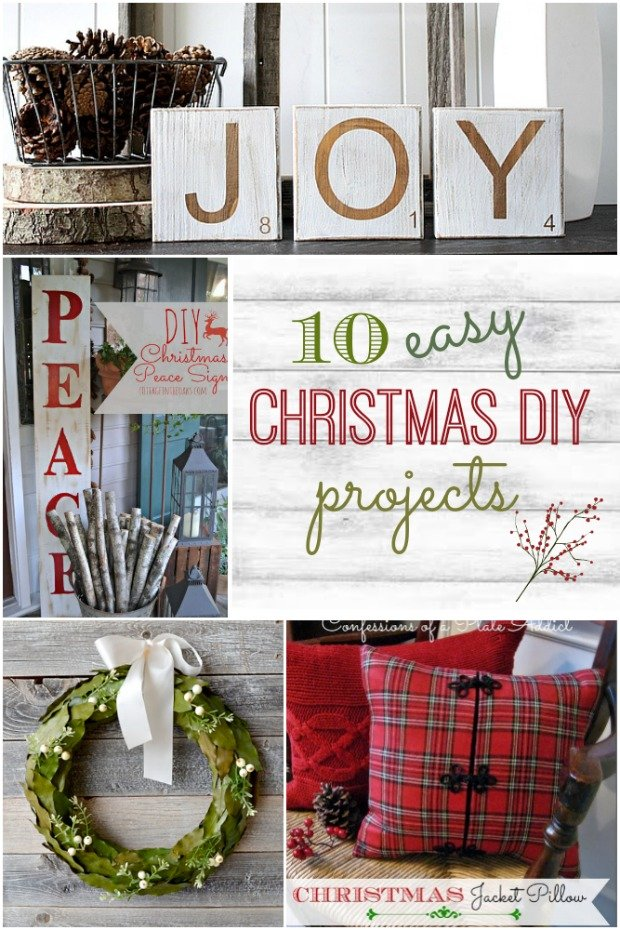 10 easy diy christmas projects home stories a to z for Simple and easy diy projects