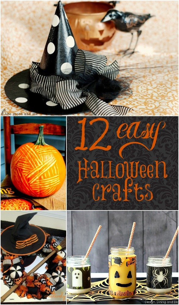 12 Easy DIY Halloween Crafts - Home Stories A to Z