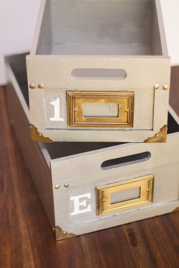 Anthropologie Inspired Storage Boxes