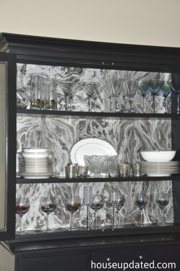 Marbled Paper Backed Hutch