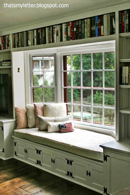 Drop Cloth Quilted Window Seat Tutorial