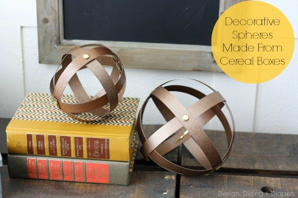 Decorative Spheres from Cereal Boxes