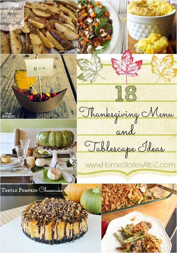 18 Thanksgiving Menu and Tablescape Ideas