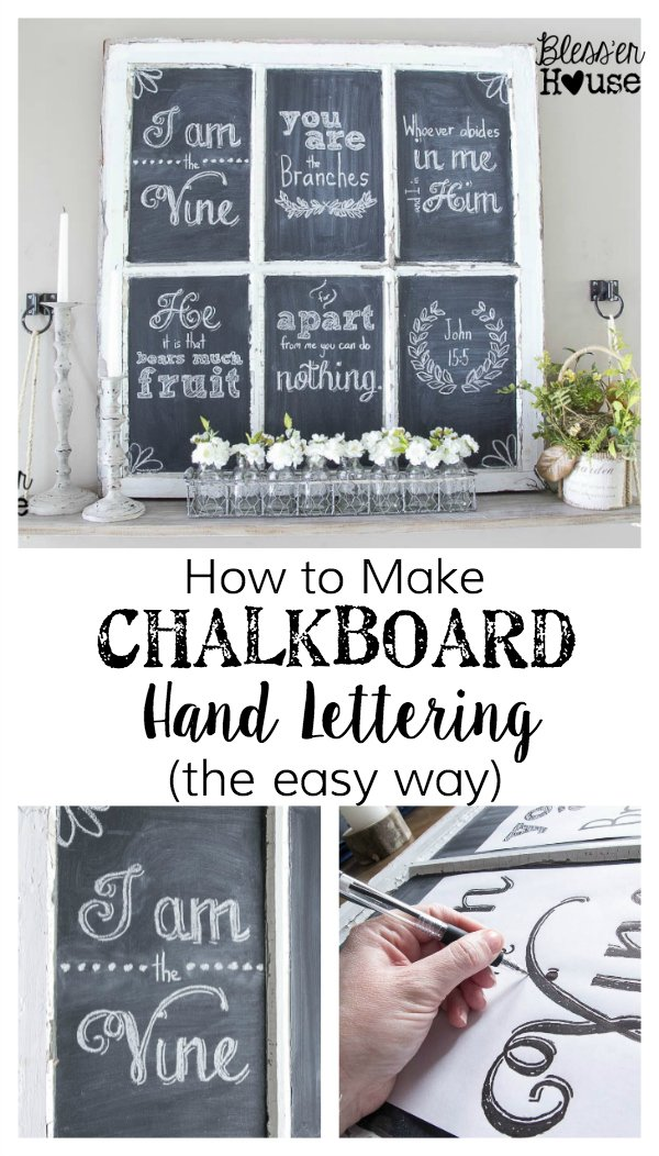 Easy Tip for Creating Chalkboard Lettering