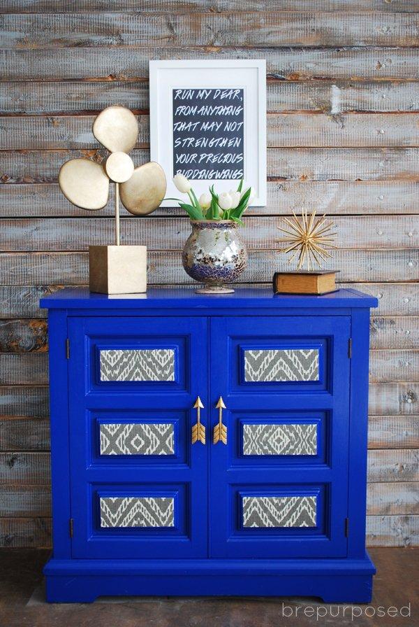 Blue Furniture Makeover