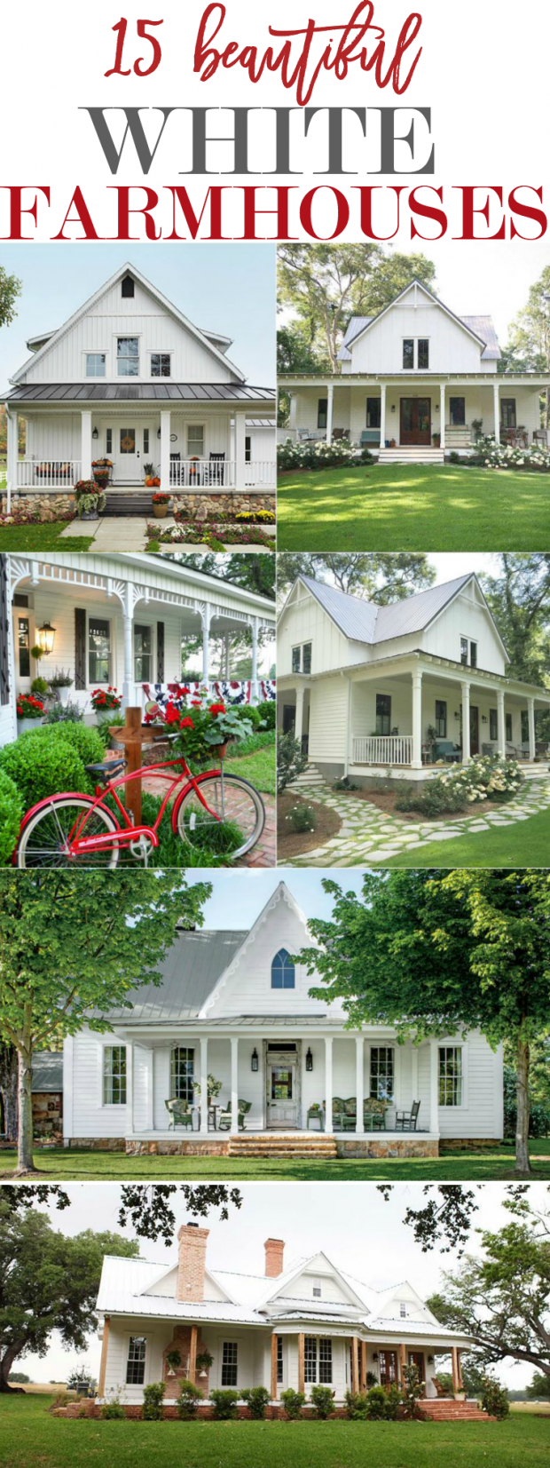15 Beautiful White Farmhouses