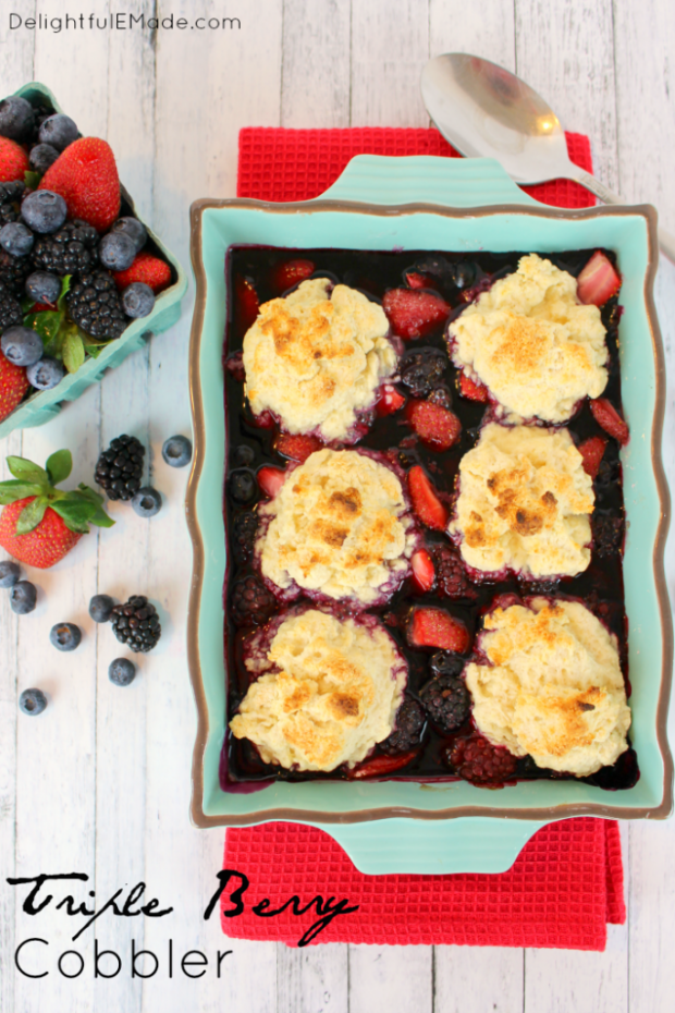 Triple Berry Cobbler Recipe - Best Berry Recipes Home Stories A to Z