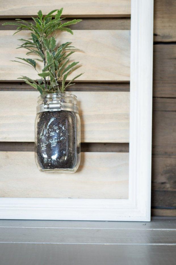 Building Projects - Mason Jar Plant Holder