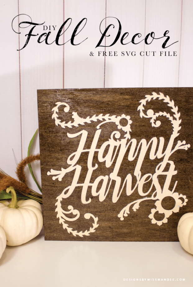 Fall Harvest Sign Tutorial