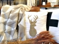 How to Create DIY Deer Silhouette Pillow Applique