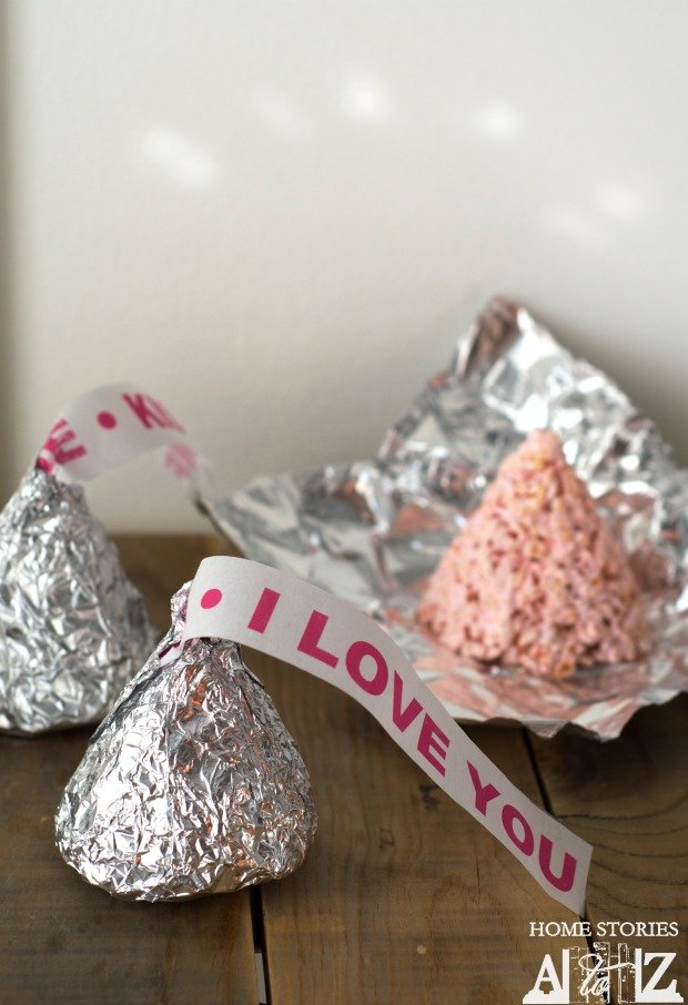 Valentine's Sweet Treats - Hershey's Kiss Shaped Rice Krispies