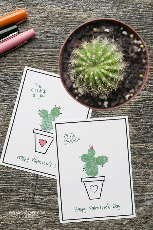 I'm Stuck on You Thumbprint Valentine's Day Printable