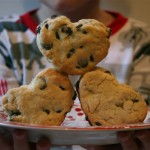 Chocolate Chip Valentine's Scones {scone recipe}
