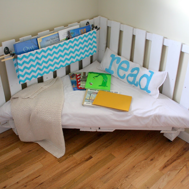 Wooden Crate Reading Nook