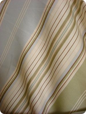 blue tan striped fabric
