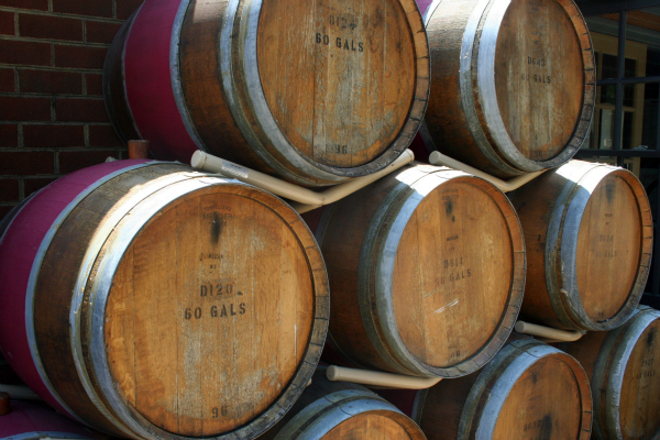wine barrels picture