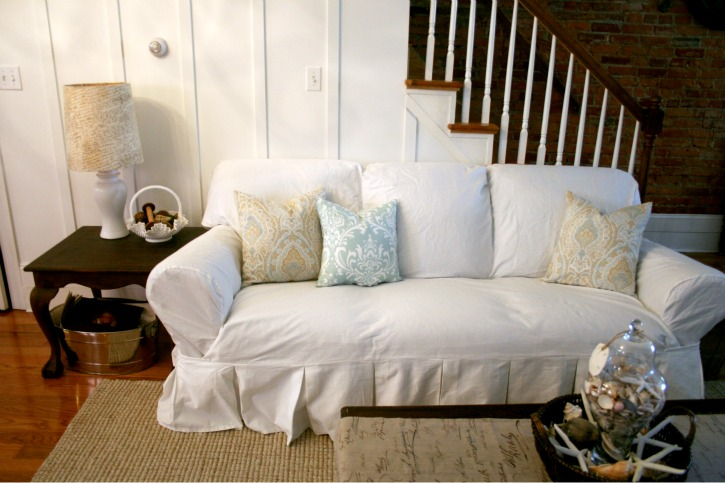pottery barn white slipcover