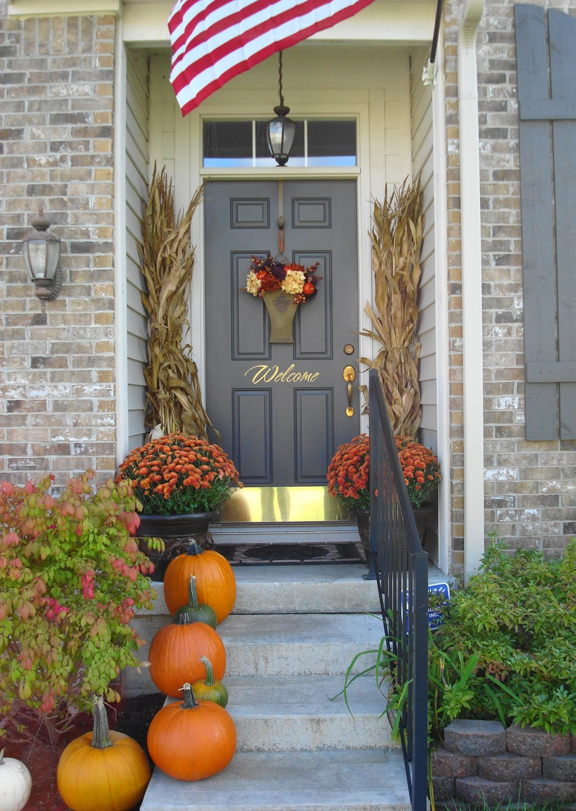 Outdoor fall decorating ideas front porch - Front Porch