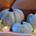 Blue Pumpkins {how to crafts}