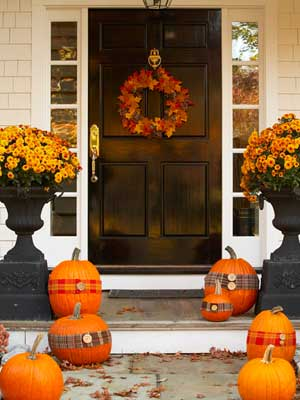 fall entrance mdn - Fall Decorations For Home