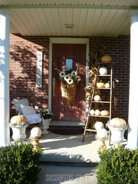22 fall front porch ideas veranda home stories a to z Small front porch decorating ideas for fall