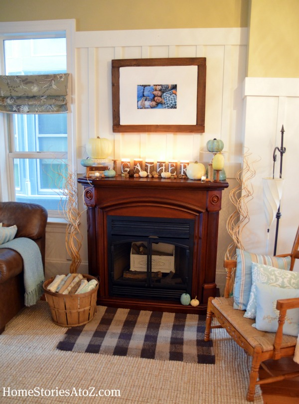autumn mantel, mantle, mantel ideas