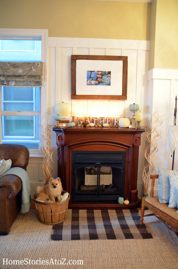 autumn mantel, fall mantle