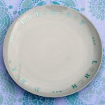 Stenciled Plates and Napkins {Martha Stewart Paint Line by Plaid}