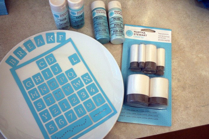Stenciled plates and napkins martha stewart paint line by plaid my latest videos spiritdancerdesigns Gallery
