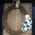 Felt Flower Grapevine Wreath {wreath}