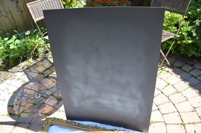 How To Make An Easy Vintage Frame Chalkboard Black