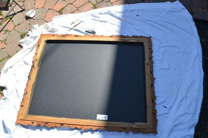 How To Make An Easy Vintage Frame Chalkboard {black
