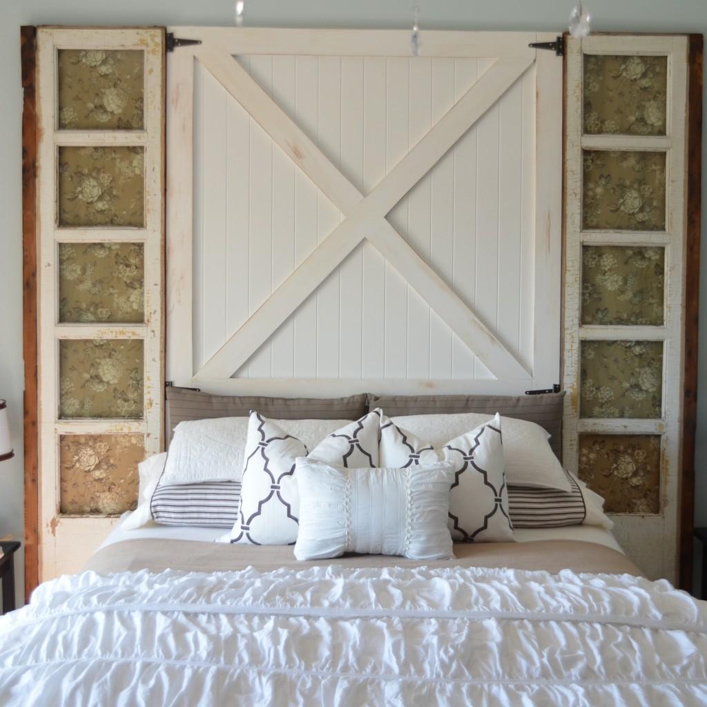 How to Build a Barn Door Headboard {diy headboard} - Home ...