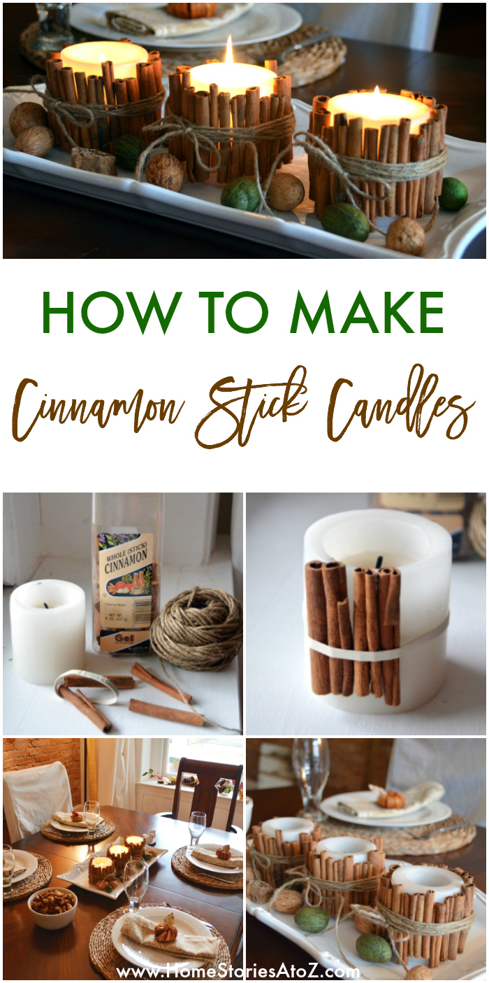 Cinnamon Stick Candles Fall Ideas