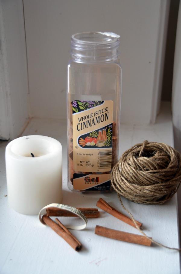 Cinnamon Stick Candles Fall Ideas