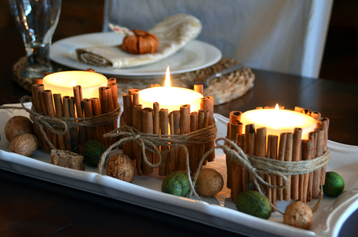 Cinnamon stick candles 2