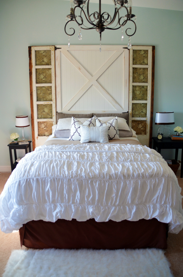 Barn Door Headboard Master Bedroom Reveal