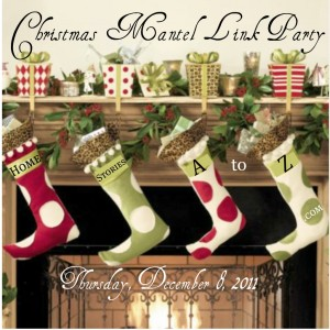 Make A Simple Christmas Mantel Scarf - Just Paint It Blog