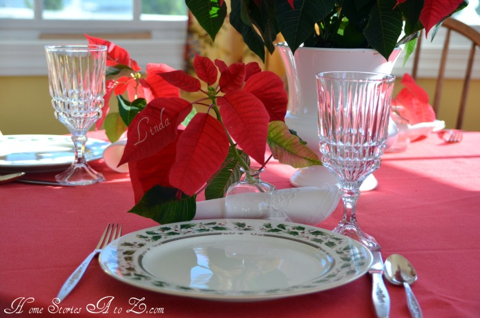 place card poinsettia