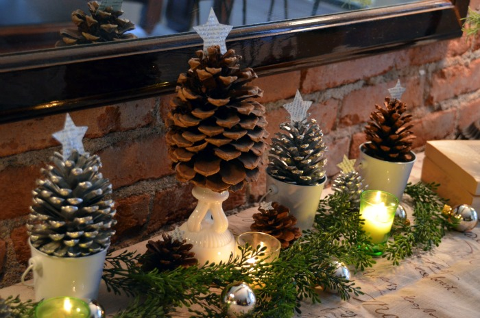 Tutorials and tips link party 37 tree craft pine cones for Pine cone christmas tree craft