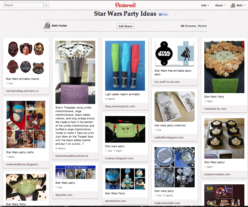 Ideas feel free to click on my star wars party ideas pinterest board