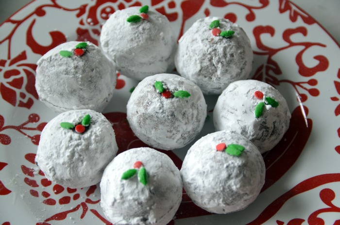 Chocolate Covered Christmas Cake Balls