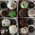 Chocolate Covered Christmas Cake Balls {cake ball}