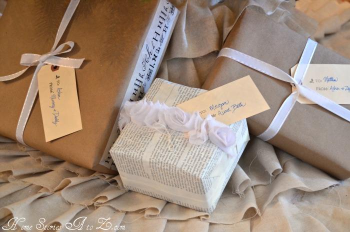 linen ruffle tree skirt, no sew