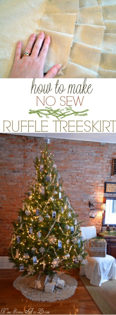 no sew treeskirt tutorial