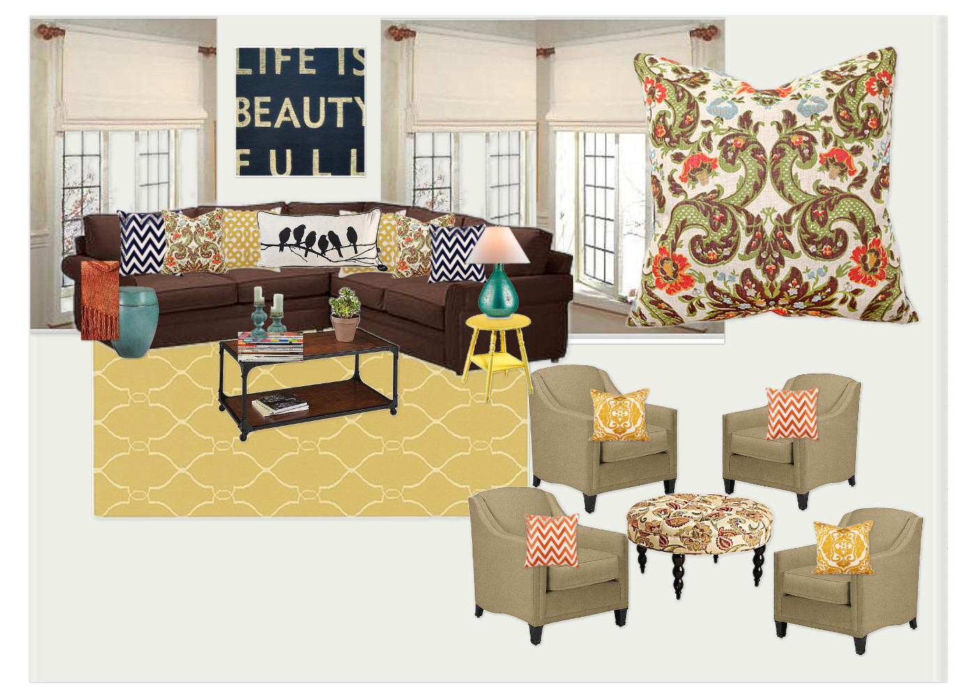 Updating A Living Room Pinterest Contest At
