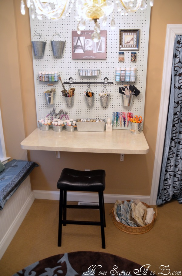 Getting organized and 100 lowes giveaway home stories a to z - Small space craft room model ...